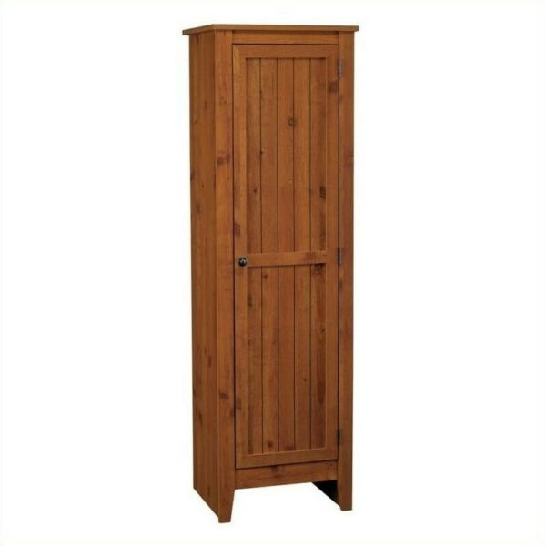 Ameriwood Home Single Door Kitchen Pantry in Old Fashion Pine