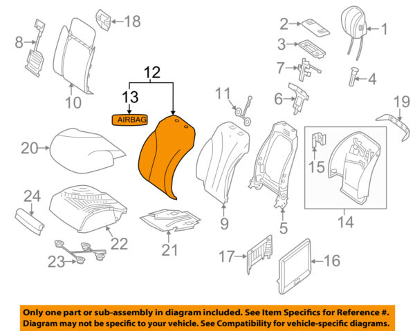 MERCEDES OEM 14-17 S550 Driver Seat-Seat Back Cover 22291013085E75