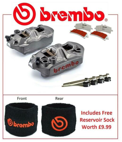 Brembo M4 Front Brake Calipers To Fit Kawasaki ZX10R 2008 - 2014 SC Pad Upgrade