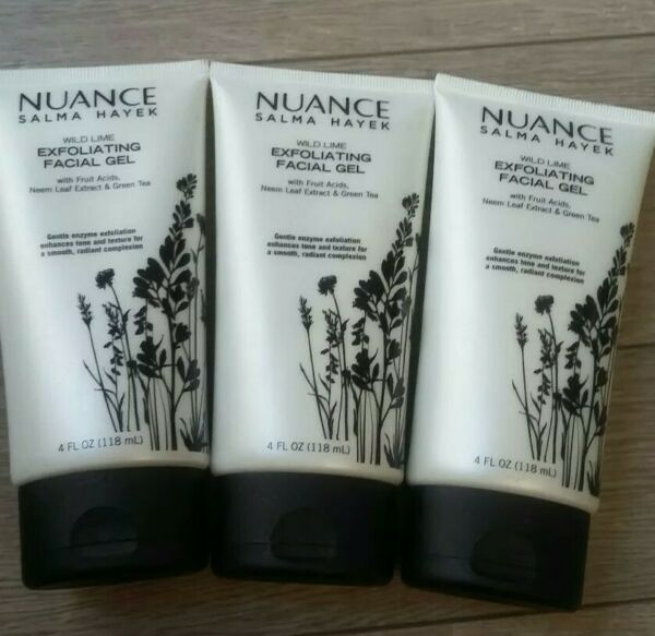 3 Pack Nuance Salma Hayek Wild Lime Exfoliating Facial Gel 4 oz Each