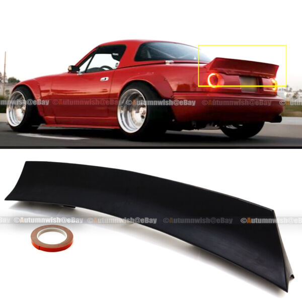 Fits MX-5 MK1 90-97 Mazda Miata Rocket Style Highkick Rear Trunk Wing Spoiler