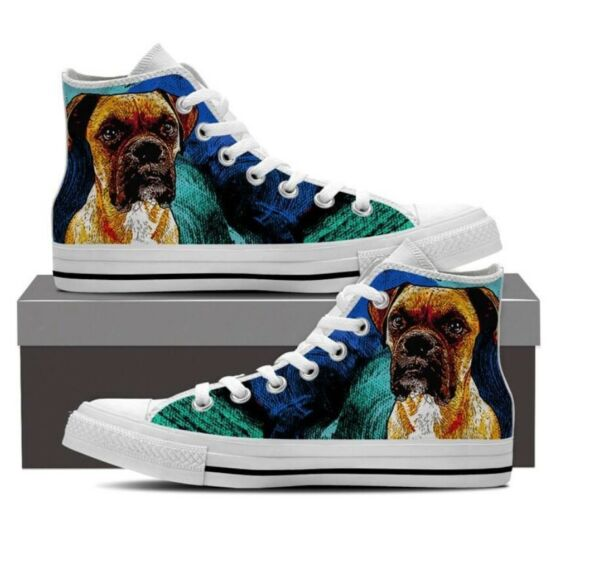 BOXER DOG High Top Shoes Women 7 NEW $50.00