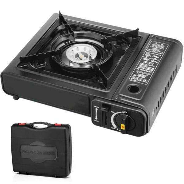 1 Burner Stove Top Outdoor Cooking Propane Gas Portable Black Great for Camping