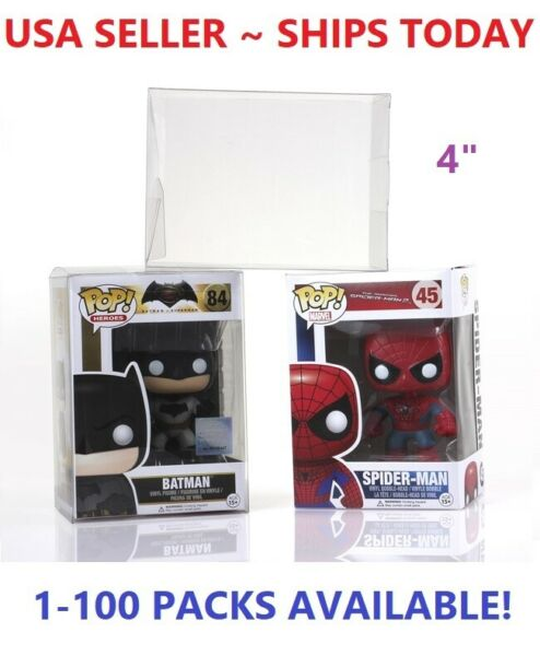 Lot 5 20 50 100 Collectibles Funko Pop Protector Case for 4quot; inch Vinyl Figures $24.98