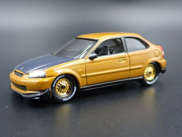1996-2000 HONDA CIVIC HATCHBACK RARE 164 SCALE COLLECTIBLE DIECAST MODEL CAR