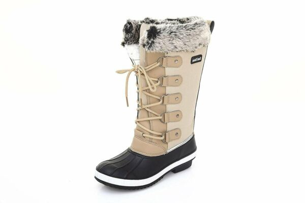 Sand Storm Womens Winter Snow Boots Tall - Insulated Lace-up RUNS SMALL