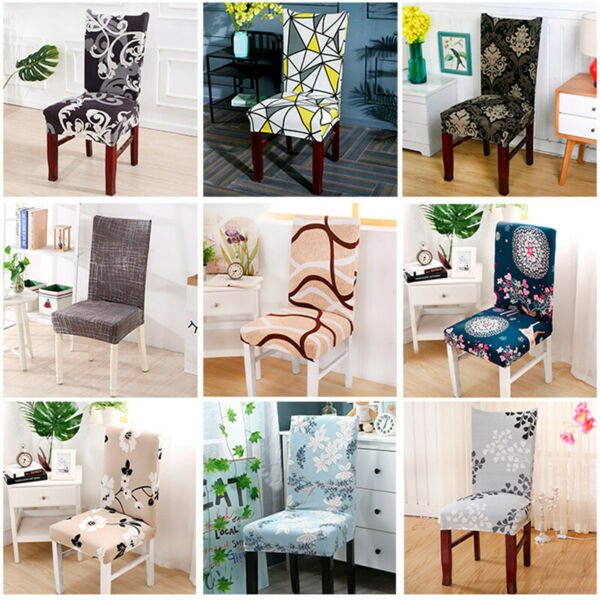 Chair Covers Dining Room Stretch Slipcovers Seat Cover Home Wedding Supplies