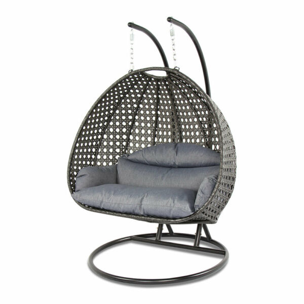 Luxury Indoor or Outdoor Swing Chair for two Hanging with stand by ISLAND GALE