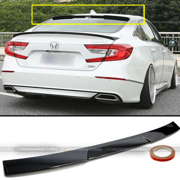 For 18 19 20 Accord 4DR JDM Style Gloss Black Rear Window Roof Wing Spoiler