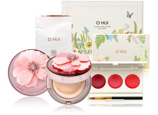 Dabin Shop O Hui Ultimate Cover Cushion Moisture Special Red Limited Gift Set $52.50