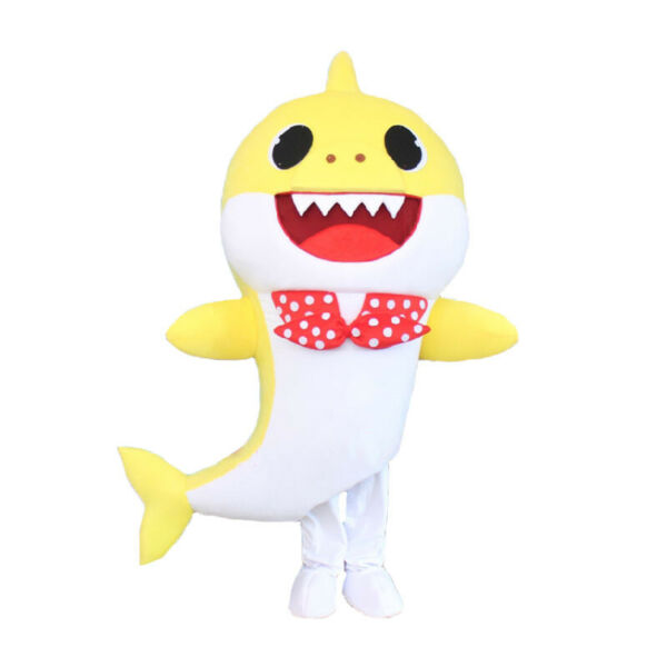 Adult Yellow Baby Shark Mascot Costume Unisex Party Clothing Halloween Costumes