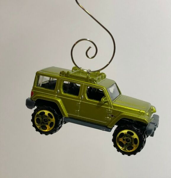 Custom 1:64 Scale Green Jeep Unlimited Christmas Ornament Free Shipping