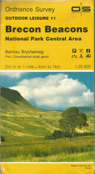 Brecon Beacons Central Outdoor Leisure Map 11 Paper 1:25000 GBP 1.49