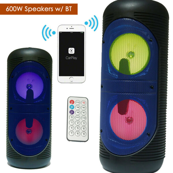 250W LOUD BLUETOOTH SPEAKER Portable Wireless Boombox Aux Rechargeable Stereo