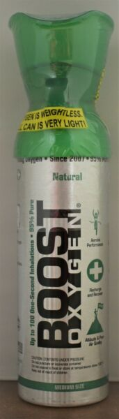 Boost Oxygen Natural Medium Size Portable 5 Liter 95% Pure (about 100 1-Sec Use)