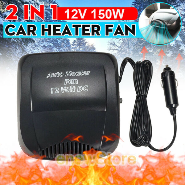 12V DC Car Auto Portable Electric Heater Heating Cooling Fan Defroster Demister $16.69