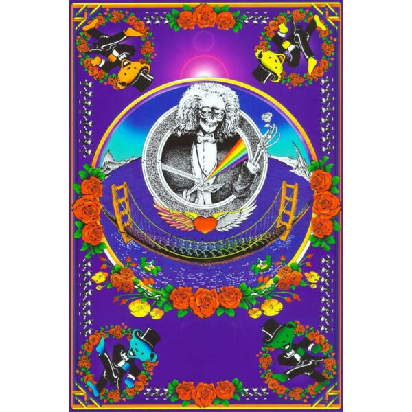 Grateful Dead Golden Gate Bridge Blacklight Poster - 24