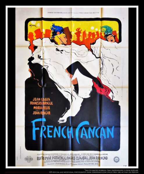 ONLY THE FRENCH CAN 4x6 ft French Grande Original Vintage Movie Poster 1955