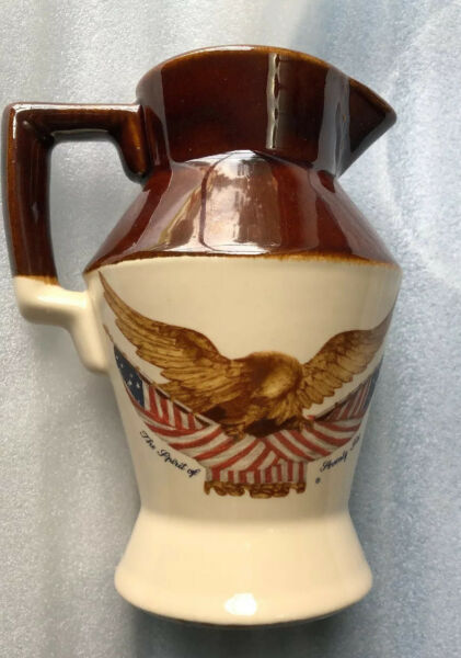 Vtg. Creamer National Gallery Carved Wooden Eagle Country Farmhouse Spirit Of 76