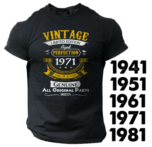 Vintage Men#x27;s Funny T shirt Unique Gift Birthday 40th 50th 60th Bday Dad Grandpa