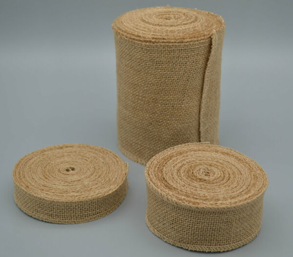 10 yards Jute Burlap Ribbon Roll Rustic Wedding Christmas Fabric for crafts