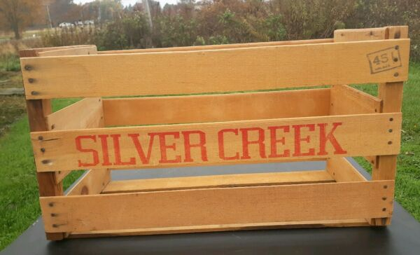 Vintage Wooden Produce Crate SILVER CREEK PACKING COMPANY Mendota California