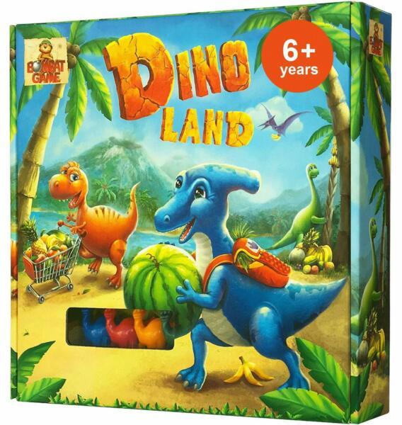 Dino Land - Fun Dinosaur Board Games for Kids Ages 6 and Up for 2-4 Players