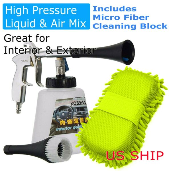 Turbo Clean Car Interior Cleaner High Pressure Tornado Deep Cleaning Gun Wash