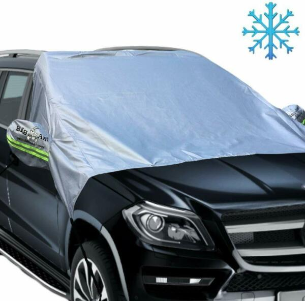 Magnetic Car Windshield Snow Cover With Reflective Warning Bar on Mirror Covers