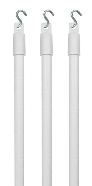 3 Qty: Wood Replacement Blind Tilt Wand With quot;Squot; Hook Choose Size $18.20