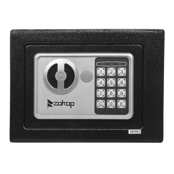 Portable Security Electronic Digital Keypad Lock Safe Box Home Gun Cash Jewelry