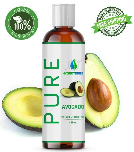 Avocado Oil 4 oz Cold Pressed 100% Pure Natural For Skin Body Hair and Massage $7.85
