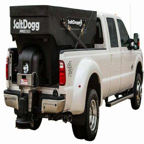 SaltDogg 2.5 Cubic Yard Electric Poly Hopper Spreader w Auger
