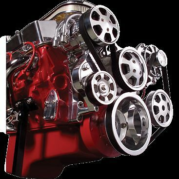 BILLET Tru-Trac Serpentine System 13220WPA SMALL BLOCK CHEVY POLISHED PREMIUM
