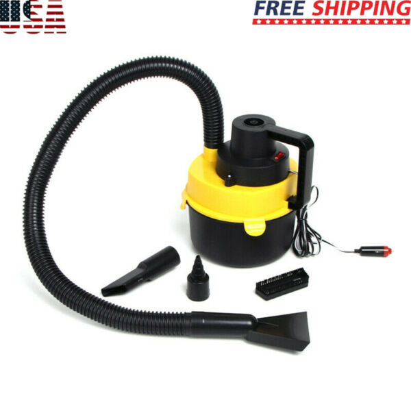 Portable 12V Car Vacuum Cleaner For Auto Mini Hand Held Wet Dry Small 12 Volt