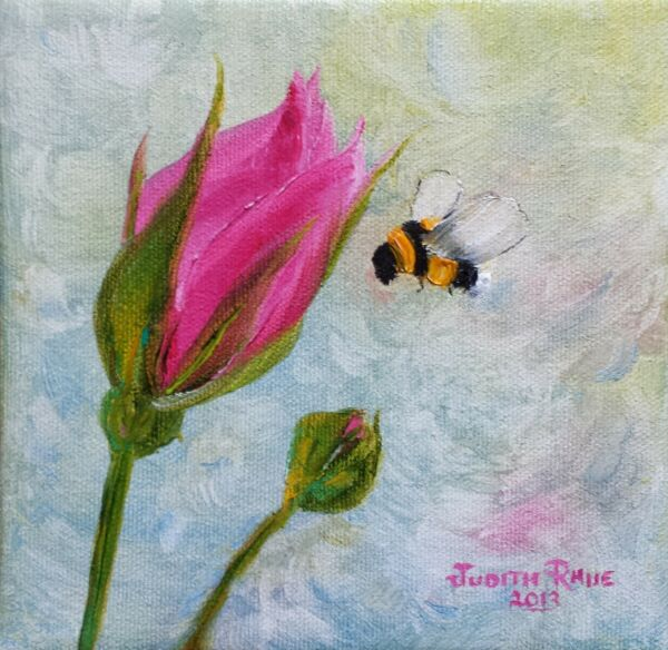 original oil painting bee flower painting on canvas 6