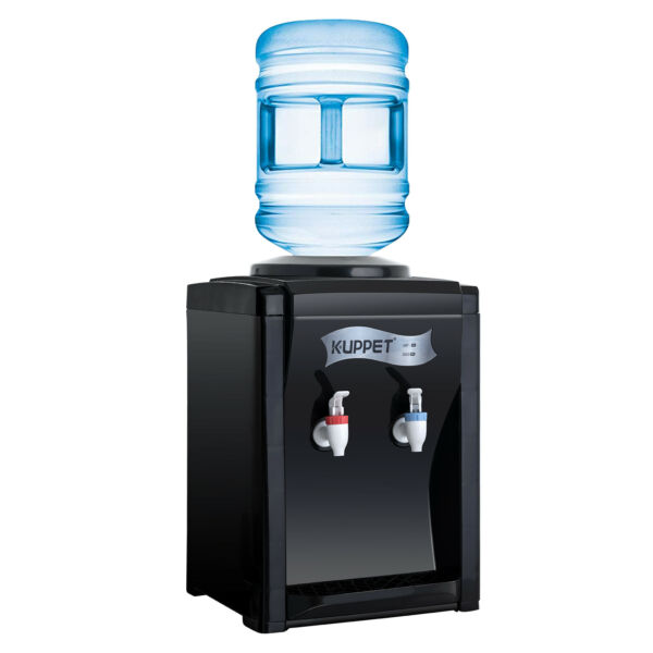 Hot & Cold Top Loading Electric Countertop Water Cooler Dispenser Home Use Black