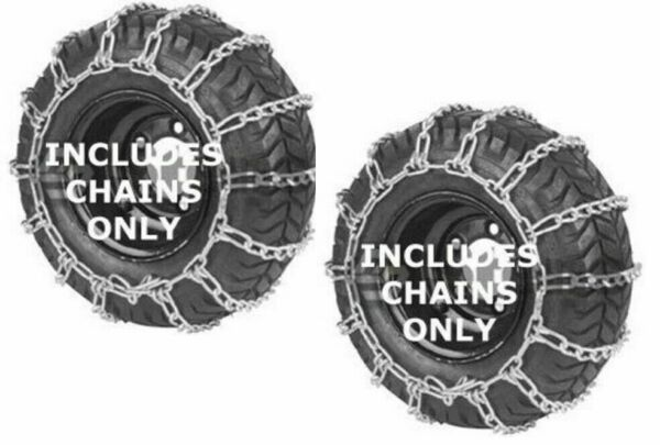 Set of 2 Snow Thrower Tire Chains 13X500X6 12.5X4.50X6