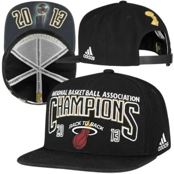 Miami Heat adidas 2013 NBA Champions Official Locker Room Cap Hat Adjustable $39.95