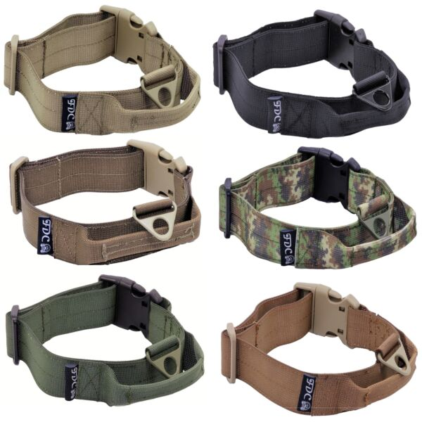Heavy Duty Tactical Military Dog Collars Handle Width 1.5in Plastic Buckle M XXL $14.99