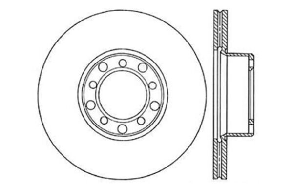 Disc Brake Rotor Front Centric 121.35008