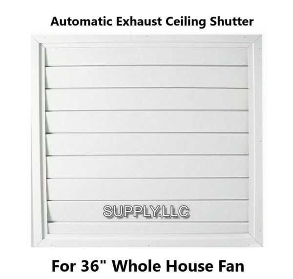 Automatic Ceiling Shutter for Whole House Fan Gravity Exhaust 36