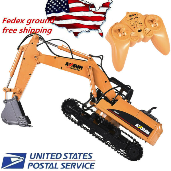 Remote Control Excavator RC Construction Tractor Vehicle Truck Toy Digger RC Car