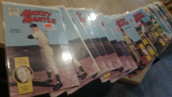 Lot of 35 Plus Sports Legend Comic Books Mantle DiMaggio Ruth Montana Bird