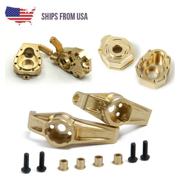 Brass Heavy Weights Steering Knuckles C-Hub Portal Cover Kit For 1:10 TRX-4 RC