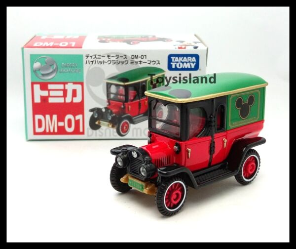 TOMICA DISNEY MOTORS DM-01 MICKEY MOUSE HIGHHAT CLASSIC 2016 TOMY DIECAST CAR