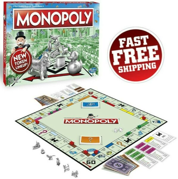 Original Monopoly Board Game Classic Edition Traditional Trading Fun Family Gift