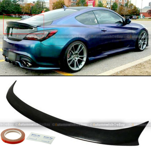 For 10-12 Hyundai Genesis Coupe Sport High Kick Style Rear Trunk Wing Spoiler