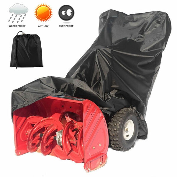 Snow Thrower Cover Polyester Fabric Anti-UV Waterproof Snow Snowblower Cover US