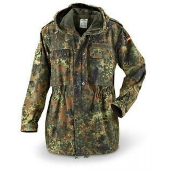 Genuine German M to XXL Flecktarn Camo Parkas new non issued military surplus